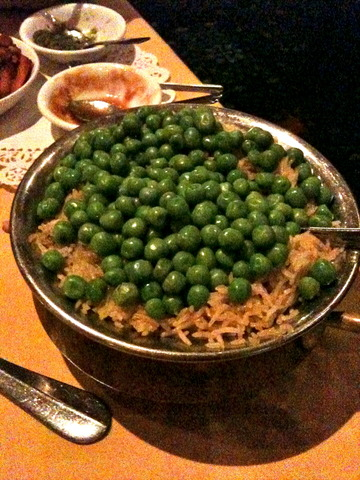 Peas Pullav at Nawab of India