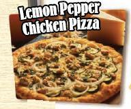 Lemon Pepper Chicken Pizza at Straw Hat Pizza