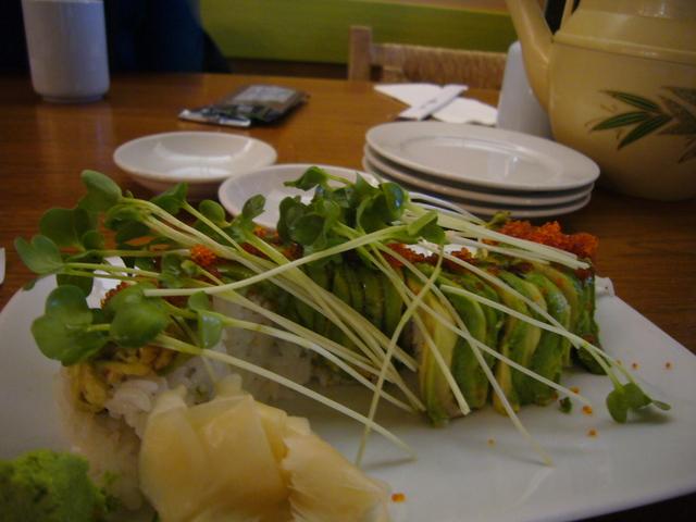 Caterpillar Roll at Kiku Sushi