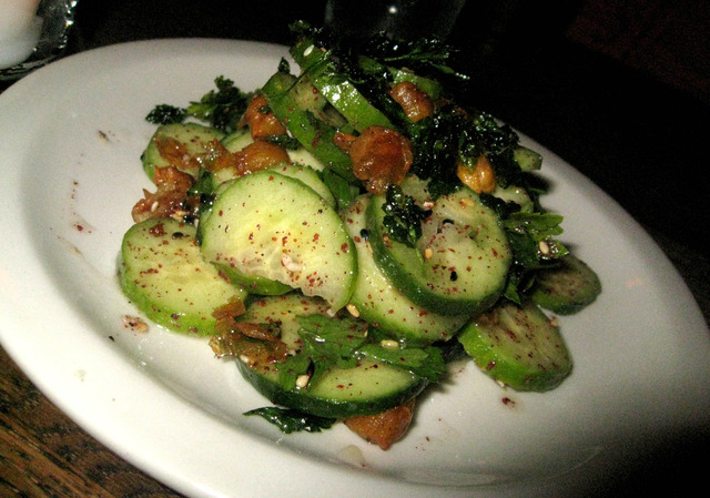 Persian Cucumbers, Za'atar and Sesame at The Gorbals Los Angeles