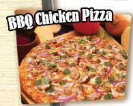 Barbecue Chicken Pizza at Straw Hat Pizza