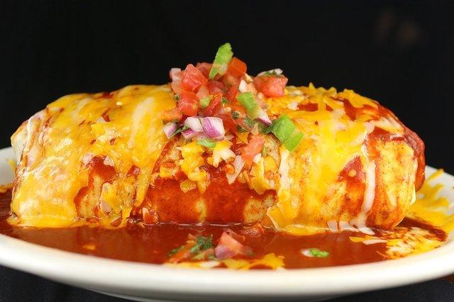 Wet Burrito Plate at columbia restaurant