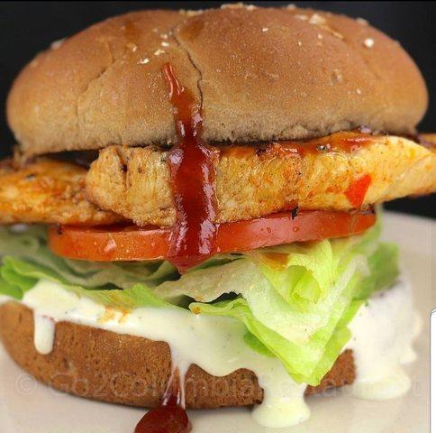 BBQ - Ranch Chicken Sandwich at columbia restaurant