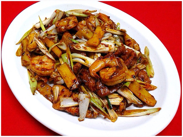 Hunan Triple Delight at Kum Fong Restaurant
