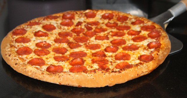 Pepperoni pizza at Five Star Pizza