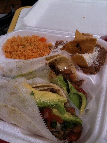 2 Taco Plate at El Gallo Giro