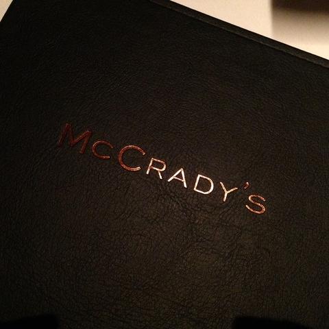 Restaurant Menu Cover - Logo at McCrady's