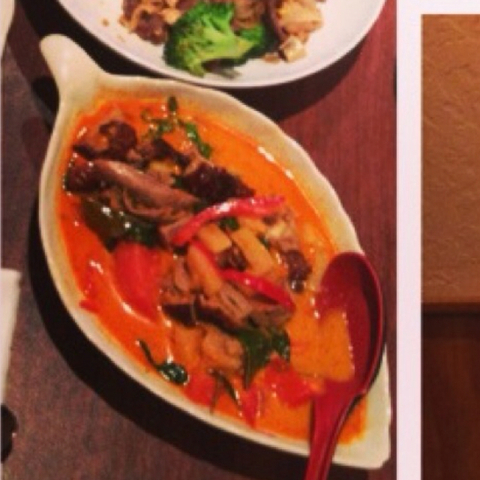 Red Curry with Roast Duck at White Elephant Restaurant