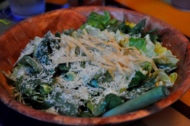 Caesar Salad at Bluewater Beach Grill