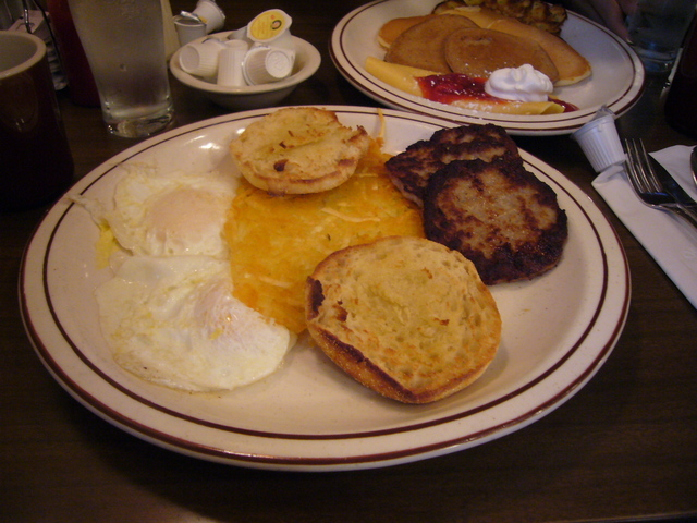 Sausage & Eggs at Chace's Pancake Corral