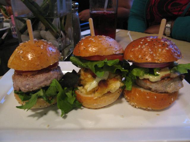 burger trio - jumbo lump crab cake at bouchees bistro