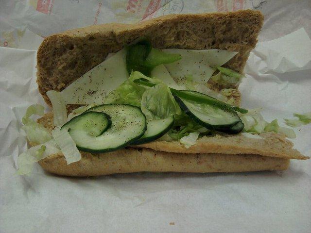 Subway EPIC FAIL - 1. Veggie Delight at Subway