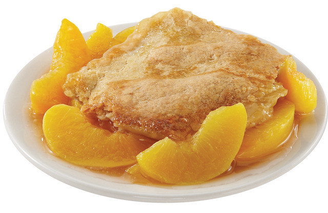 Peach Cobbler at Sticky Fingers RibHouse