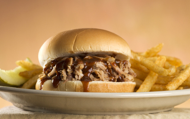 Pulled Pork Sandwich at Sticky Fingers RibHouse