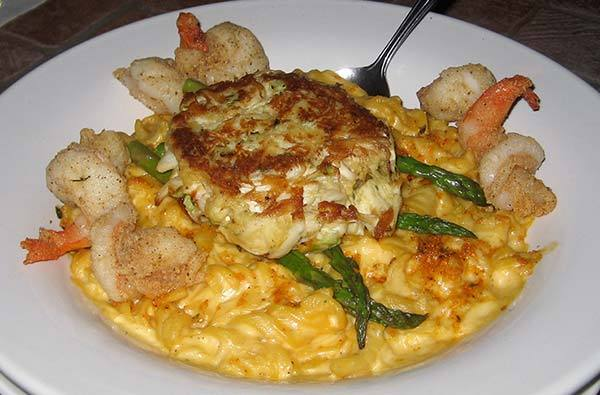 Seafood Mac & Cheese (special) at Lista's Grill