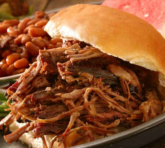 Photo of Hickory Smoked Pulled-Pork Sandwich