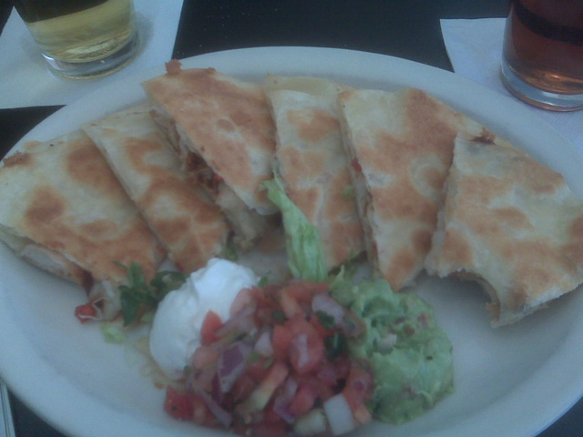 Barbecue Chicken Quesadilla at Tortilla Coast