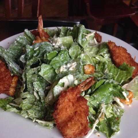 Coconut shrimp Caesar salad at Gas Lamp Grille
