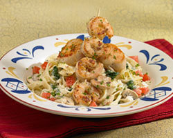 Seafood Fettuccine at Mimi's Cafe