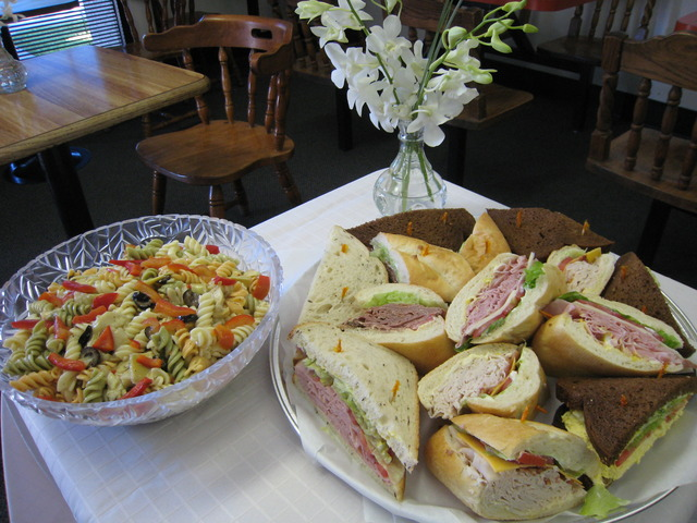Catering sandwich tray at High Park Deli Sandwich