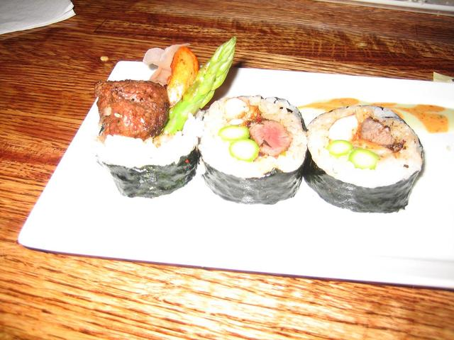 Steak and Lobster roll at Saki Tumi Grill & Sushi Bar