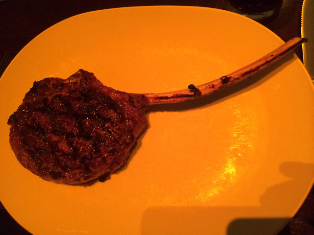 Tomahawk Rib Eye at Brand Steakhouse