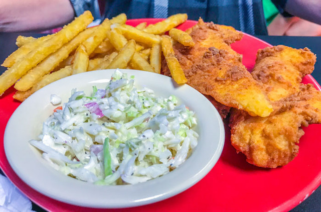 Fish and Chips at Moondoggy's Classic Diner