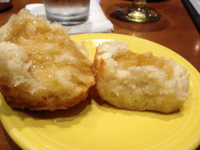 Buttermilk biscuit & honey at Tupelo Honey Cafe