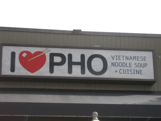 Outside I Love Pho - Logo at i Love Pho
