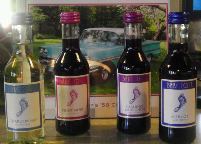 Barefoot wines at Monroe Diner Inc