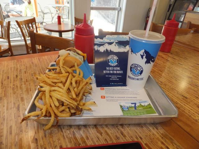 Delicious- Grass fed burger, make sure to #ElevationKirby on Instagram to be showcased on their page - The Elevation Burger at Elevation Burger