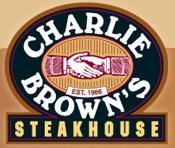 Logo at Charlie Brown's Steakhouse