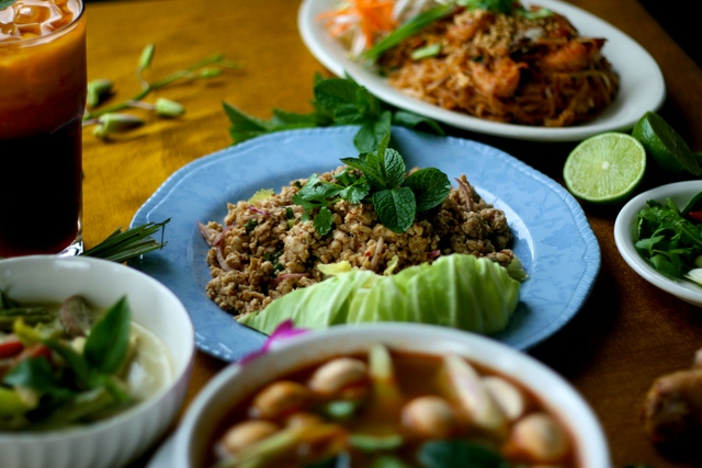 Chicken Larb at Grandma Thai Cuisine