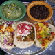 Duck carnitas, sofrito veggie, mango shrimp tacos - Dish at Vagabond