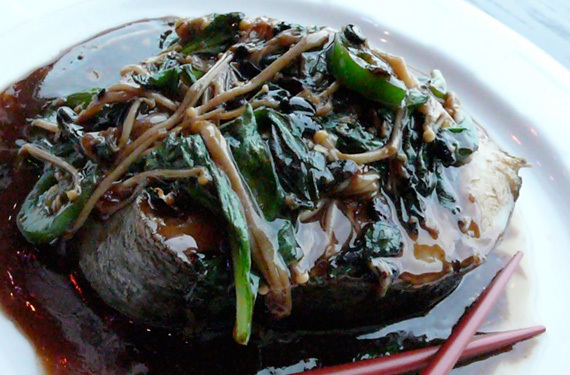 Black Cod in black bean sauce at Little Wok