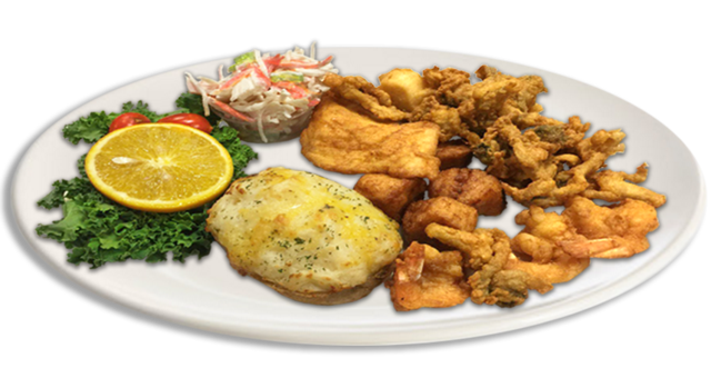 Fried Seafood Platter at Hometown Kitchen