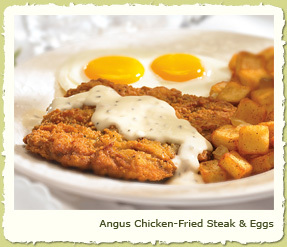 ANGUS CHICKEN-FRIED STEAK & EGGS at Coco's Restaurant & Bakery