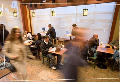 Interior at Starbucks Coffee
