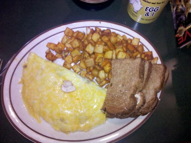 Mushroom omelet at The Egg & I