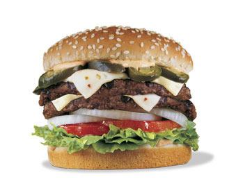 Double Jalapeno Burger at Carl's Jr.