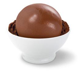 Chocolate low fat sorbet at Haagen-Dazs