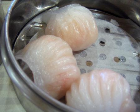 Shrimp and Spinach dumplings - dim sum dish - Shrimp and Spinach Dumplings at Hong Kong Royal
