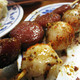 Chinese Sausage and Quail Egg Skewers at 818 JN Kitchen