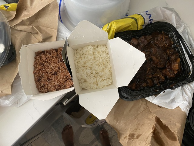 rice and peas side - Oxtail family meal for 4 at Bellyful