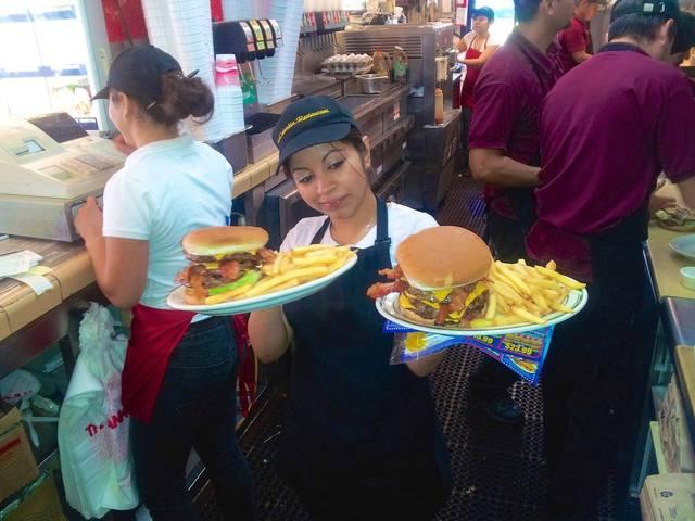 BIG 1lb. Triple Bacon Cheeseburger at columbia restaurant