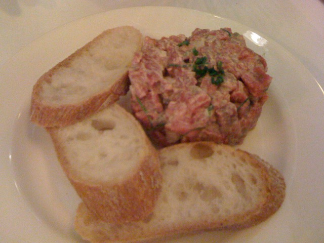 Beef Tartare at Can Can Brasserie