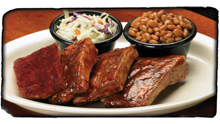 Rib Sampler at Sticky Fingers Smokehouse