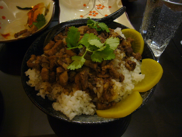 Spiced pork stew over rice at Facing East Taiwanese Restaurant