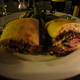 Totally delicious... - Flank steak philly at Purple Cafe and Wine Bar