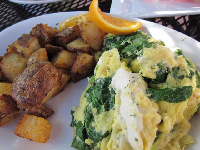 The Spinach Herb Scramlette at The Huckleberry
